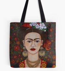 Frida Kahlo mit Schmetterlingen Tote Bag