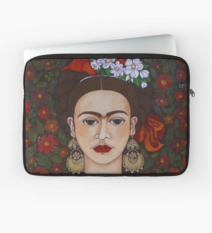 Frida Kahlo with butterflies  Laptop Sleeve