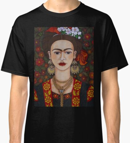 Frida Kahlo with butterflies  Classic T-Shirt