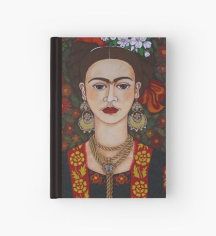 Frida Kahlo with butterflies  Hardcover Journal
