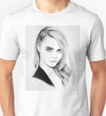 Cara Delevingne Pencil Portrait. T-Shirt