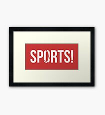 SPORTS! - Baseball Framed Print