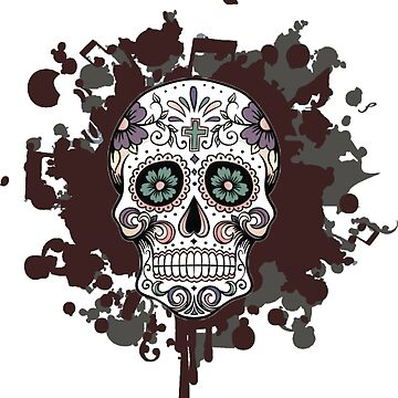 Mexican skull by texta