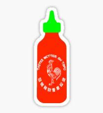 Sriracha - Tastes Better on Tofu Sticker