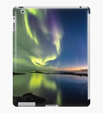 Northern Lights after sunset iPad Case/Skin
