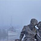 Foggy Kiss, Percival Landing by nwexposure