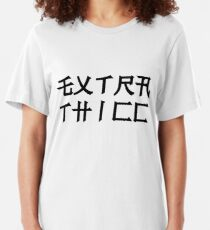 EXTRA THICC in japanese Slim Fit T-Shirt