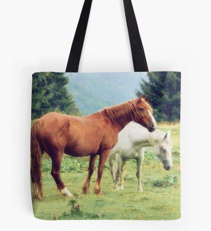 Romanian horses Tote Bag