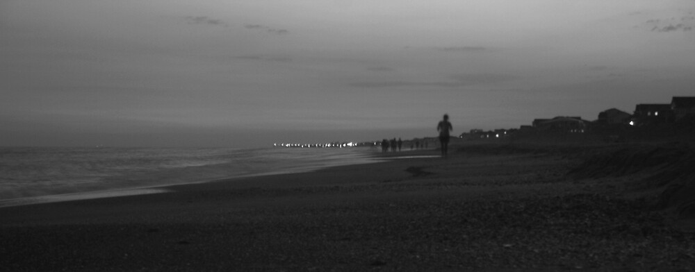 Night Walkers at the Beach by Calvin Hanson
