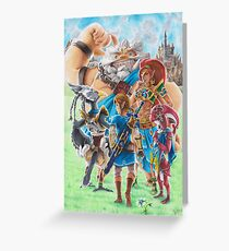 Legend of Zelda: Breath of the wild champions Greeting Card