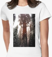 """""""General Sherman"""" Sequoia National Park California Womens Fitted T-Shirt"""