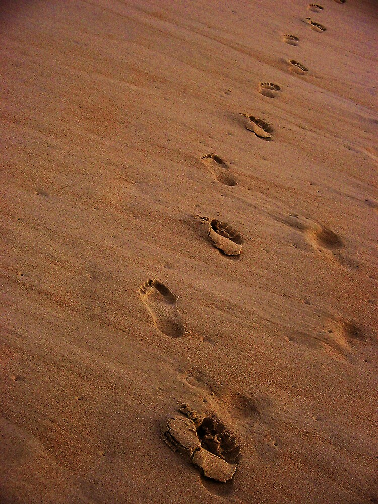 footprints in the sand by Zamia