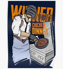 PUBG - Winner, Winner Chicken Dinner Merchandise Poster