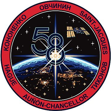 ISS-58 (Expedition 58) Logo Original Version with Aunon-chancellor by Spacestuffplus