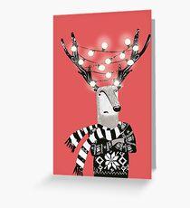 Christmas Bright Reindeer  Greeting Card
