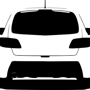 Mazdaspeed3 Rear Silhouette (Black) by AddictGraphics