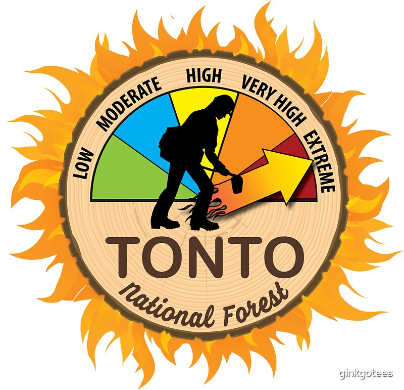 Tonto National Forest Wildland Firefighter by ginkgotees