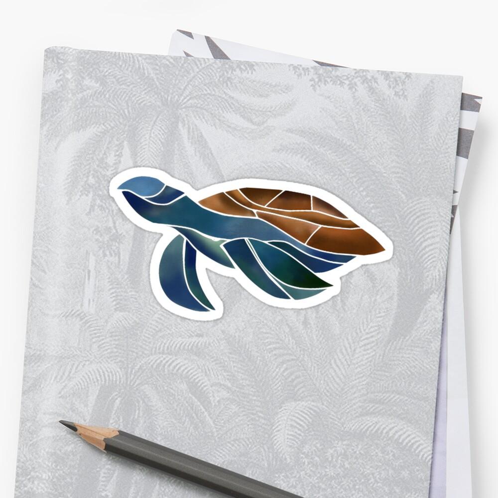Geometric Watercolor Turtle by Maayan Golbus