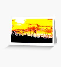 abstract oxidation Greeting Card