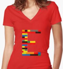 E t-shirt Women's Fitted V-Neck T-Shirt