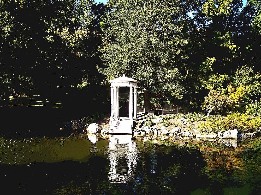 Pavillion reflections by Judi Taylor