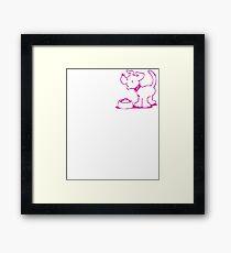 Cute Funny Goofy Pup Tshirt Framed Print