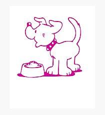 Cute Funny Goofy Pup Tshirt Photographic Print