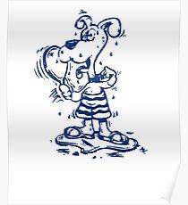 Funny Goofy Pup Shirt Poster