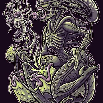 Alien Pin Up by Jehsee