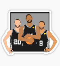 The Spurs' Big 3 Sticker