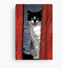 Charlie Barley (the cat) [FluxLimbo] Canvas Print