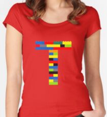 T t-shirt Women's Fitted Scoop T-Shirt