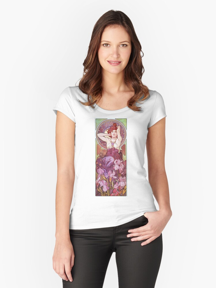 Amethyst Women's Fitted Scoop T-Shirt Front