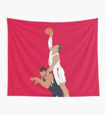 Blake Griffin Dunk On Rudy Gobert Wall Tapestry