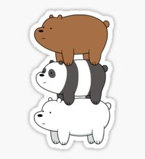 We Bare Bears Bearstack Sticker