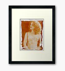 floating emulsion Framed Print