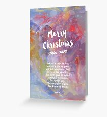 Christian Christmas card Greeting Card