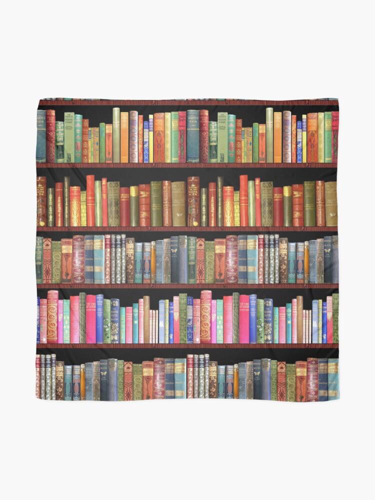 Alternate view of Jane austen antique books & other British antique books Scarf