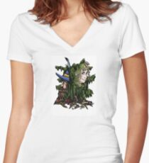 Tom and Goldberry Women's Fitted V-Neck T-Shirt