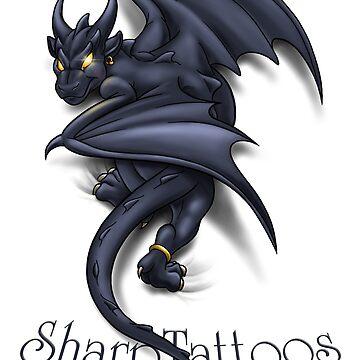 Dragon/Gargoyle by SharpTattoos