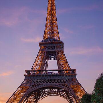 Golden Eiffel Tower by danafazz