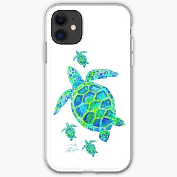 Sea Turtle with babies iPhone Soft Case