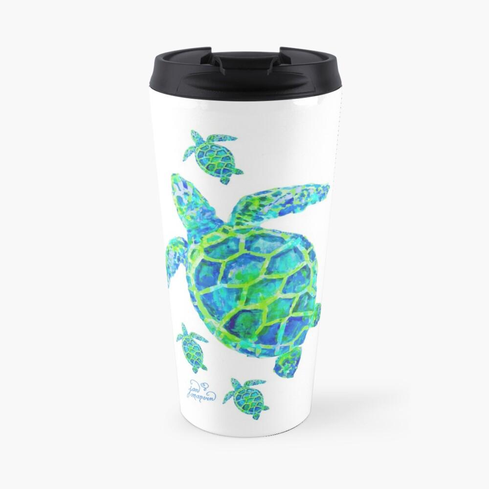 Meeresschildkröte mit Babys Thermobecher