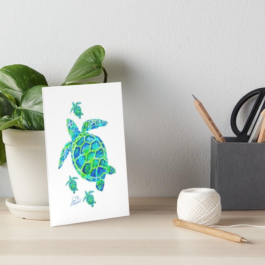 Meeresschildkröte mit Babys Galeriedruck