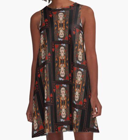 Frida,  Queen of Hearts II A-Line Dress