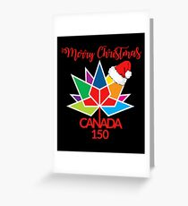Merry Christmas Canada 150 T Shirt Greeting Card