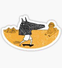 Anubis Fanboy on a Skateboard Sticker