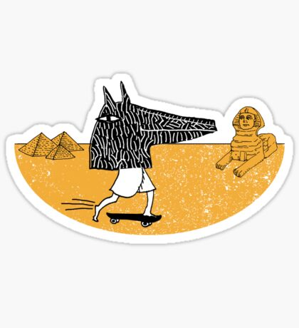 Anubis Fanboy on a Skateboard Sticker