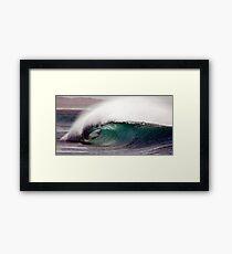 empty wave Framed Print