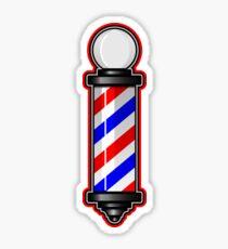 Barber Pole Hair Cut Sticker